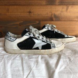 GGDB Superstar 36 6 Black White Low Top Sneakers